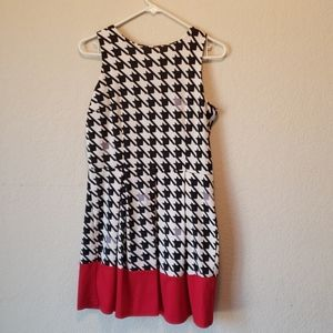 Checkered and Red dress